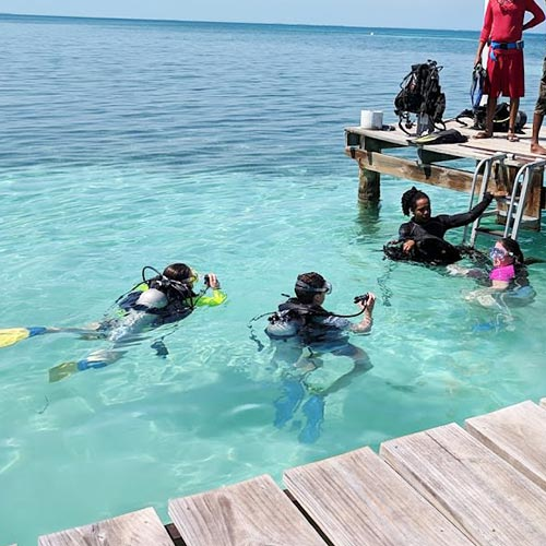 Belize scuba open water diving certification