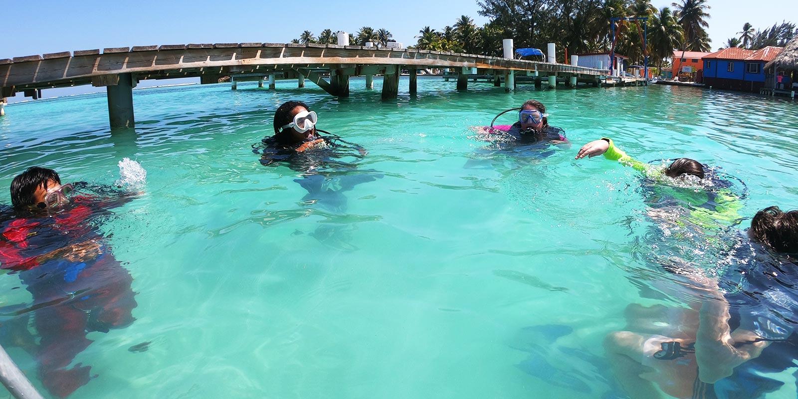 Belize scuba diving certification