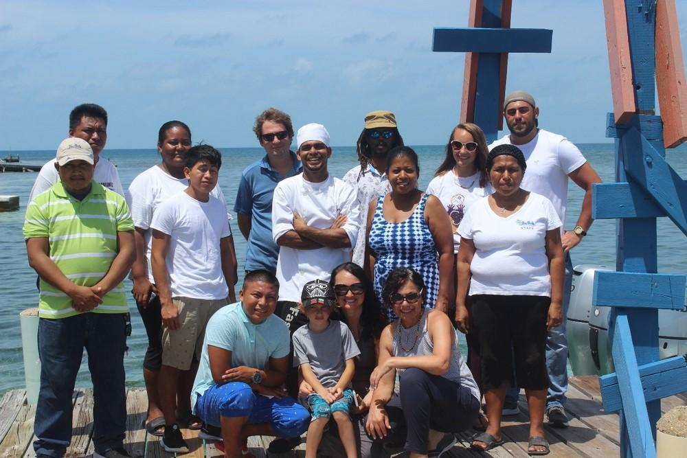 Belize island resort family