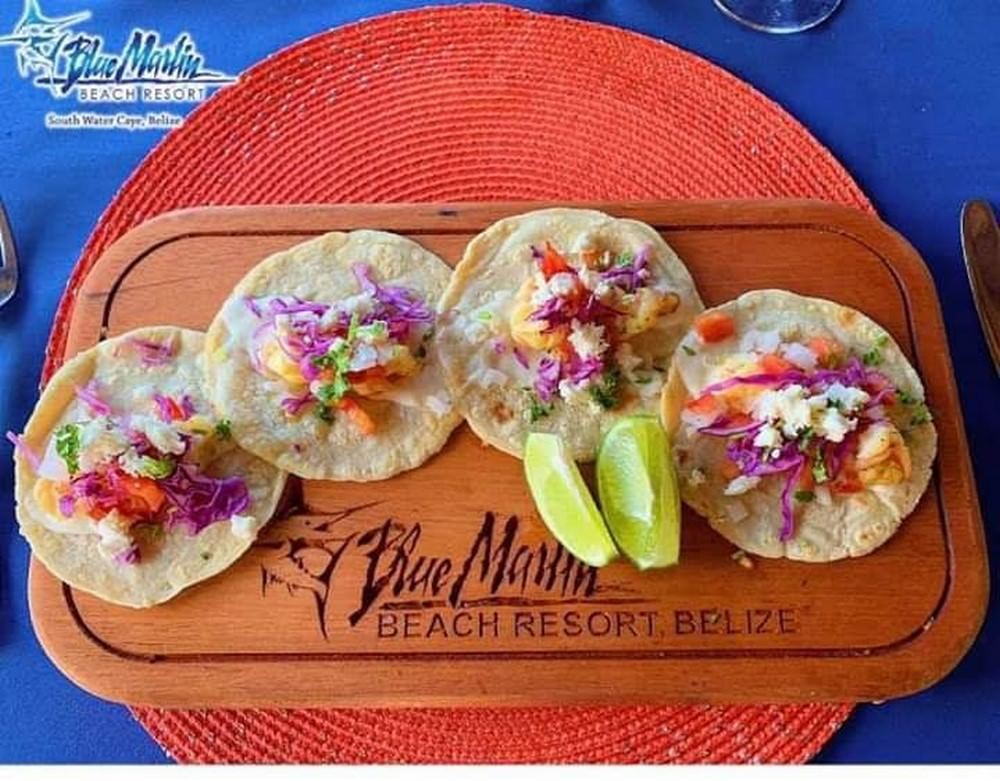 Belize island resort - food