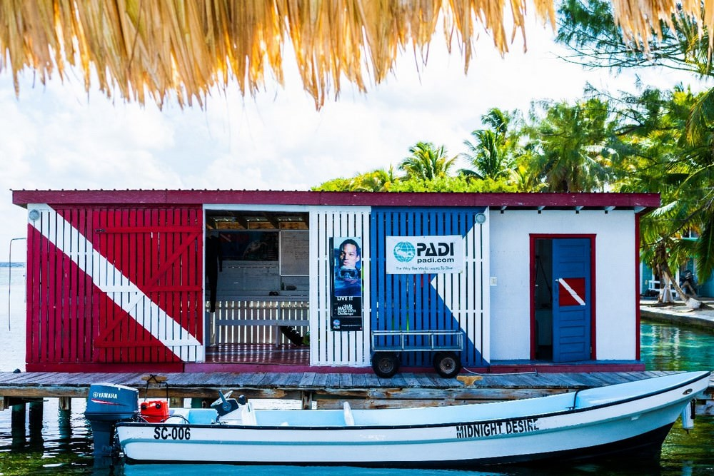 Belize island resort - diving
