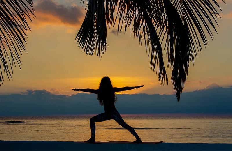 Belize island activities- yoga