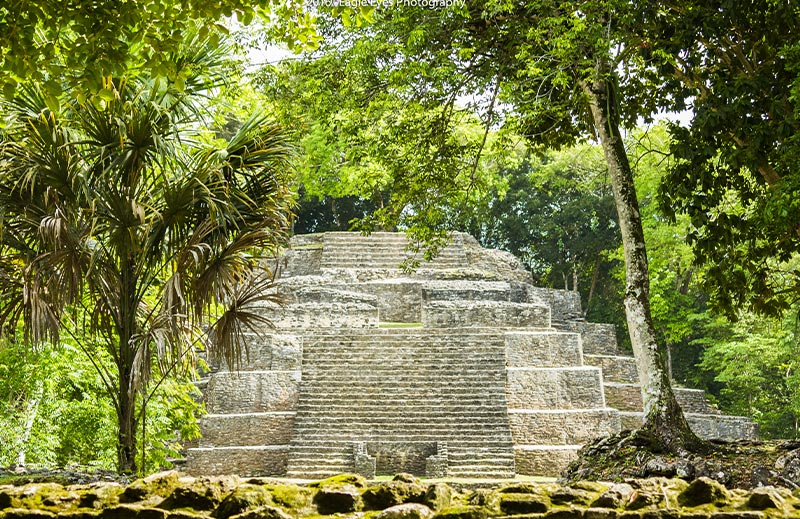 Belize private island resort - maya ruins