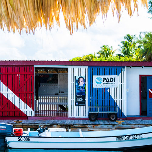 Belize padi dive shop